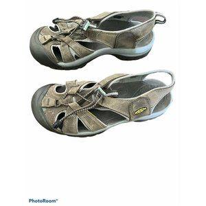 Keen Womens Newport H2 Brown Leather Hiking Sandal